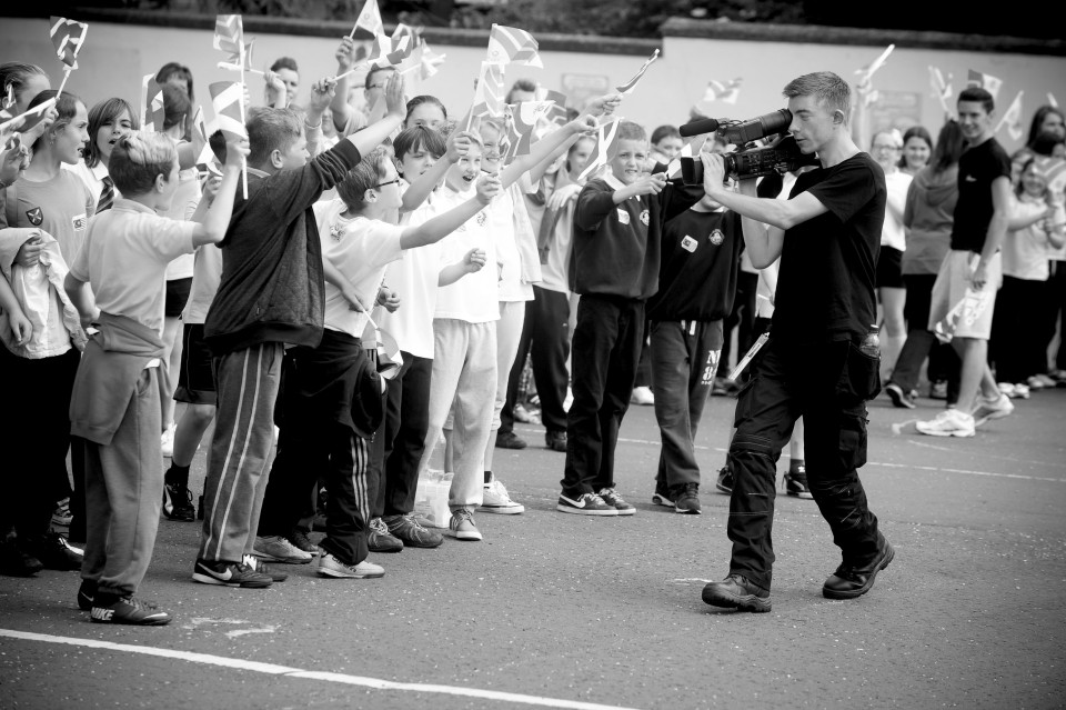 videographers scotland .. On the road as the official Glasgow 2014 QBR Film team